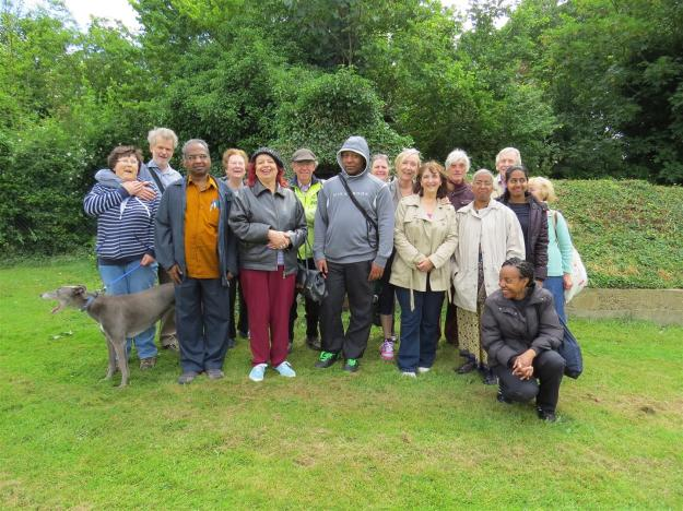 Mitcham Cricket Green Ward boundary walk Civic Day June 2013 Mitcham Garden Village