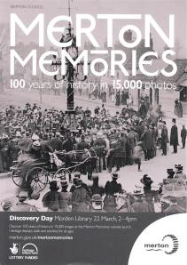 Merton Memories launch 2014 March 22 poster