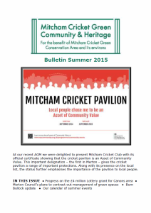 Bulletin Summer 2015 cover