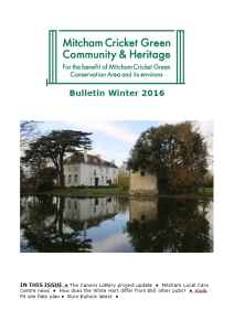 MCGCH newsletter Winter 2016 cover