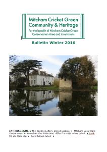 MCGCH newsletter Winter 2016 cover