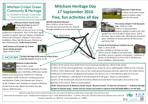 Mitcham Heritage Day 17 Sep 2016